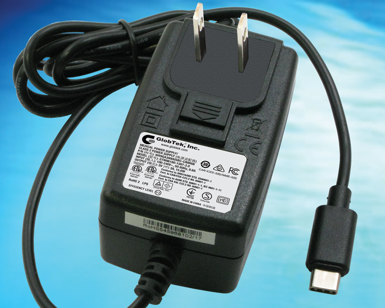 GlobTek offers a low cost wall plug in power supply adapter with full compliance to USB 3.1 standards and terminated in a USB Type C connector. This product is fully compliant with ITE, Medical, and household...