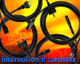 Power Cords Detachable for International Applications